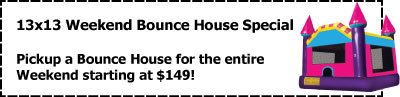 13x13 coupon michigan party rentals inflatables novi farmington hills bloomfield hills west bloomfield canton