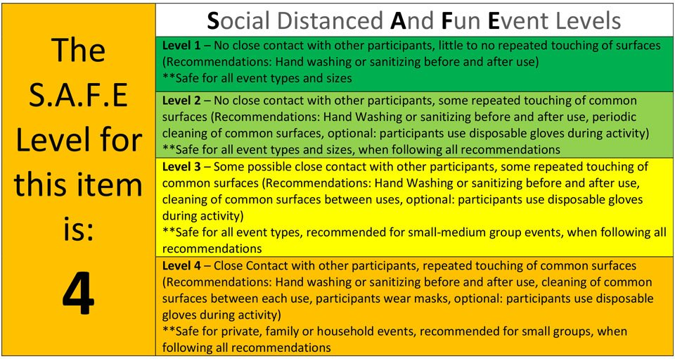 safe level 4 inflatable party rentals Michigan