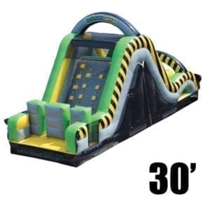 30' toxic rush rock climb slide inflatable party rentals Michigan