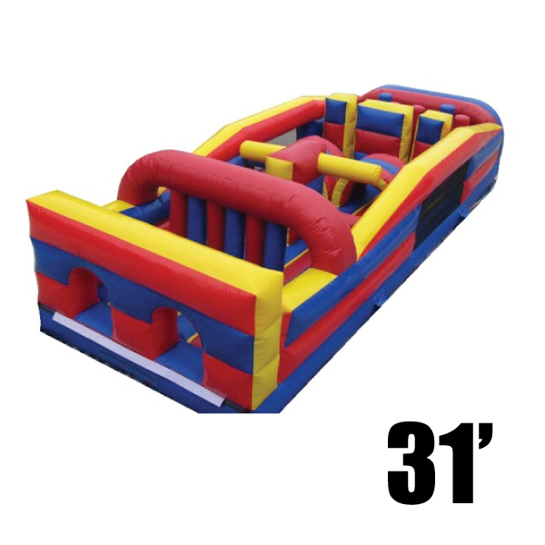 31' olympic inflatable obstacle course party rental Michigan