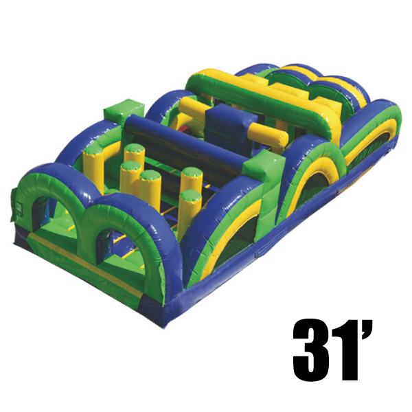 31' radical run inflatable obstacle course party rental Michigan