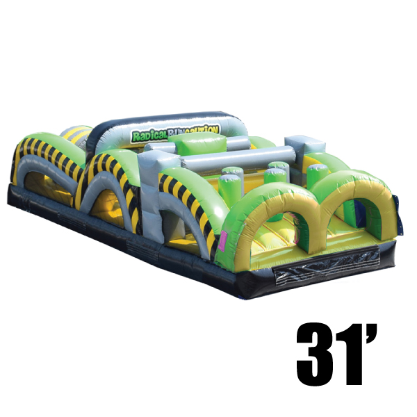 toxic 31 inflatable obstacle course party rental Michigan