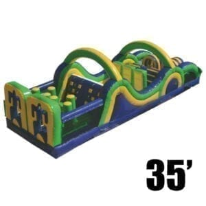 radical run 35' inflatable obstacle course rental Michigan