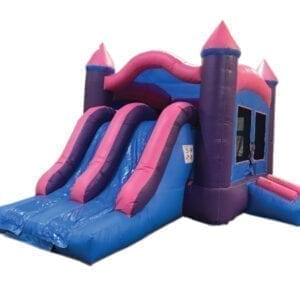 3n1 dual lane princess bounce slide combo inflatable party rentals Michigan