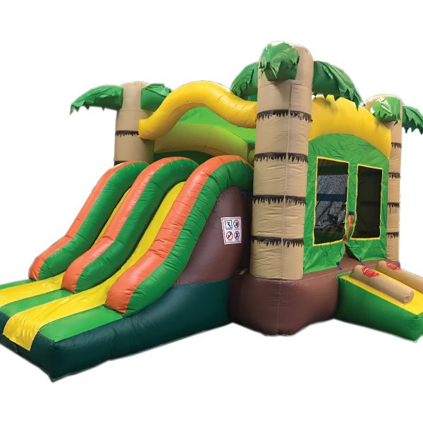 3n1 dual tropical bounce slide combo inflatable party rentals michigan