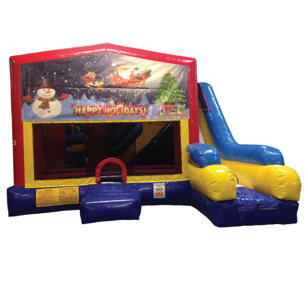 merry Christmas bounce slide combo inflatable party rentals Michigan