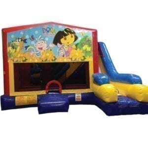 5n1 xl dora bounce slide combo inflatable party rentals michigan