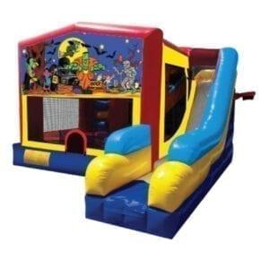 5n1 xl halloween frankenstein bounce slide combo inflatable party rentals Michigan