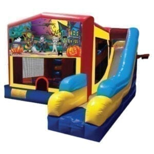 5n1 xl halloween mummy bounce slide combo inflatable party rentals Michigan