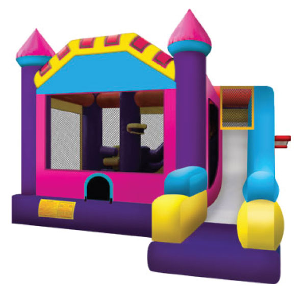 5n1 xl pink inflatable bounce house slide party rentals michigan