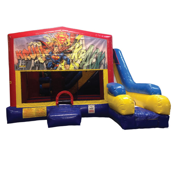 5n1 xl inflatable superman bounce slide combo party rentals