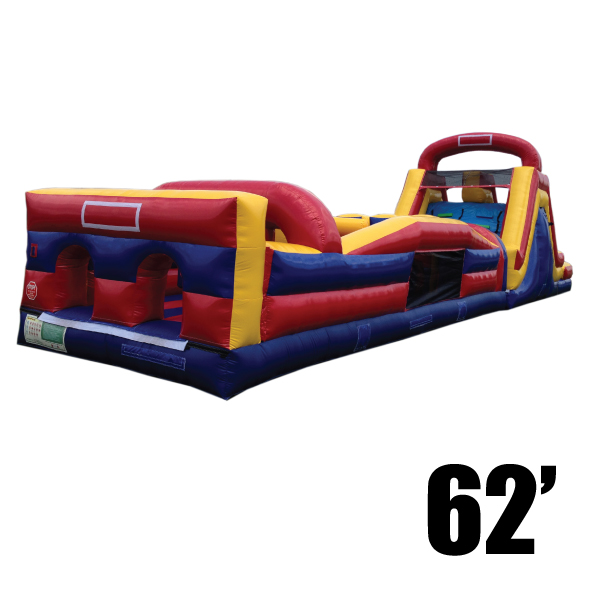 olympic 62' inflatable obstacle course party rentals Michigan