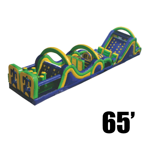 radical run 65' inflatable obstacle course rental Michigan