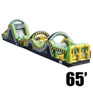 toxic rush 65' inflatable obstacle course party rental Michigan