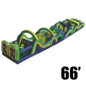 radical 66' inflatable obstacle course party rental Michigan