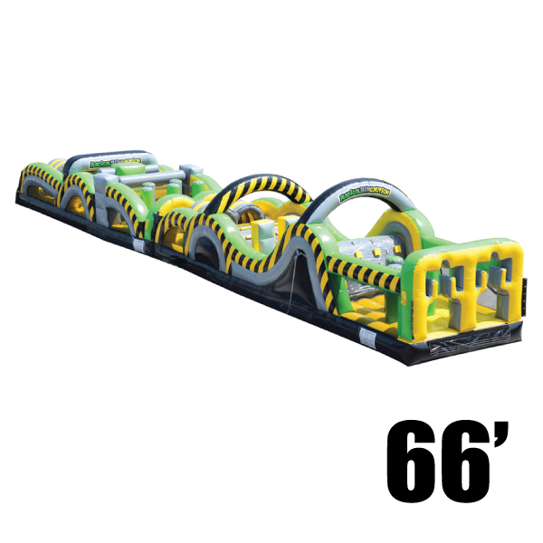 toxic rush 66' inflatable-obstacle-course-party-rental-michigan