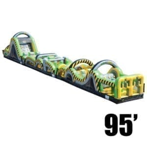 95' toxic rush inflatable obstacle course party rentals Michigan
