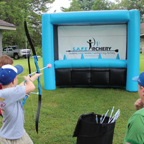 archery hover ball inflatable party rentals michigan