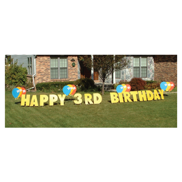 balloons yard greetings yard cards lawn signs happy birthday party rentals michigan