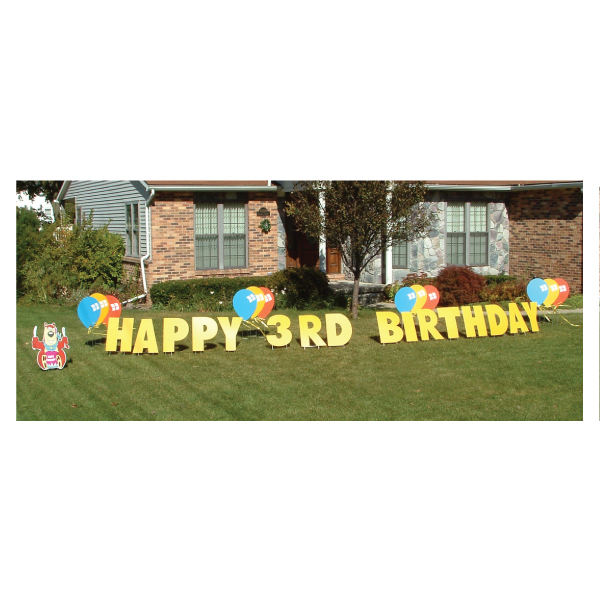 bear yard greetings yard cards lawn signs happy birthday party rentals michigan
