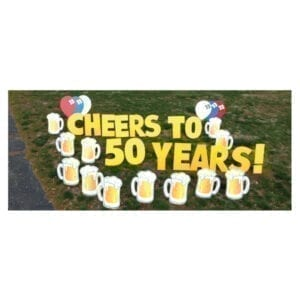 beer mugs yard greetings yard cards lawn signs happy birthday party rentals michigan