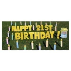 candles yard greetings yard cards lawn signs happy birthday party rentals michigan