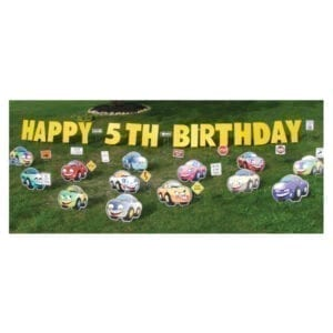 cars yard greetings yard cards lawn signs happy birthday party rentals michigan