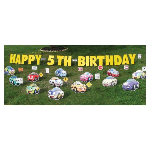 cars yard greetings yard cards lawn signs happy birthday party rentals michigan