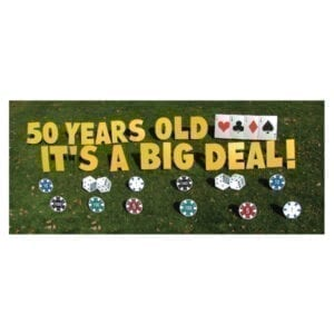 casino yard greetings yard cards lawn signs happy birthday party rentals michigan
