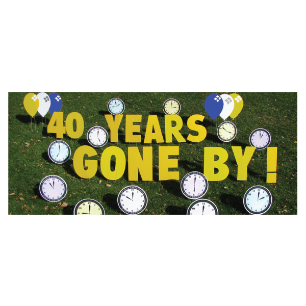 clocks yard greetings yard cards lawn signs happy birthday party rentals michigan