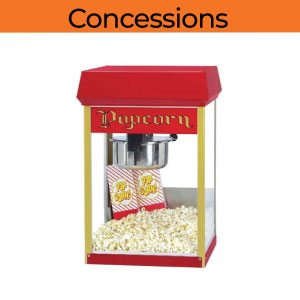 concessions popcorn cotton candy snow cone party rentals michigan 200