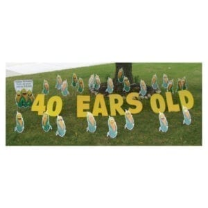 corn yard greetings yard cards lawn signs happy birthday party rentals michigan