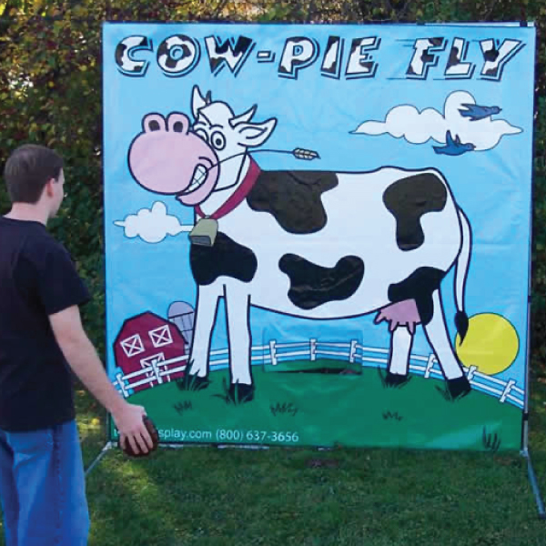 cow-pie fly carnival game party rentals michigan