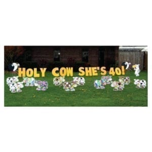 cows yard greetings yard cards lawn signs happy birthday party rentals michigan