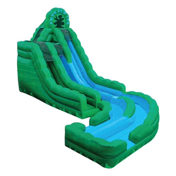 inflatable emerald ice water slide rental Michigan party