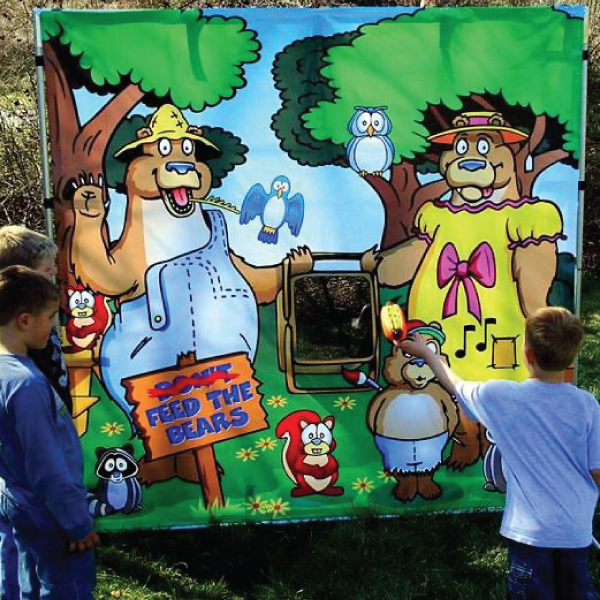 feed the bears carnival game party rentals michigan