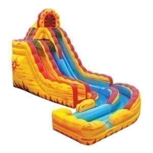 inflatable fire-n-ice water slide rental Michigan party