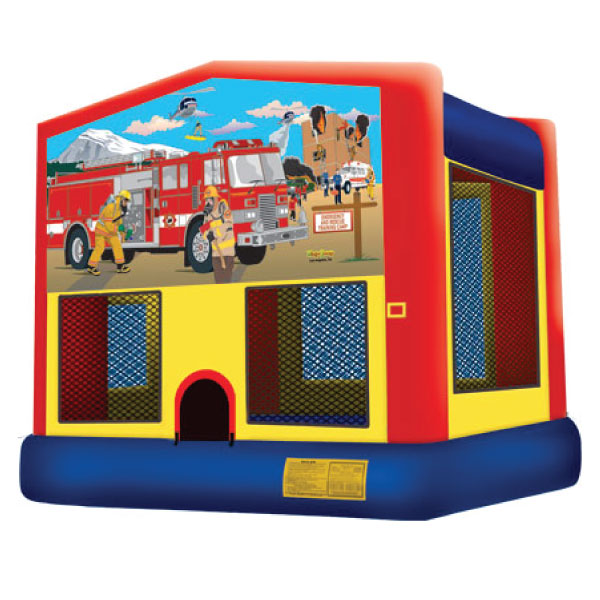 fire truck inflatable bounce house party rental Michigan