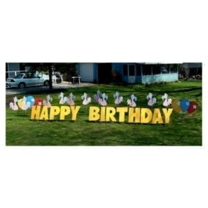 flamingos yard greetings yard cards lawn signs happy birthday party rentals michigan