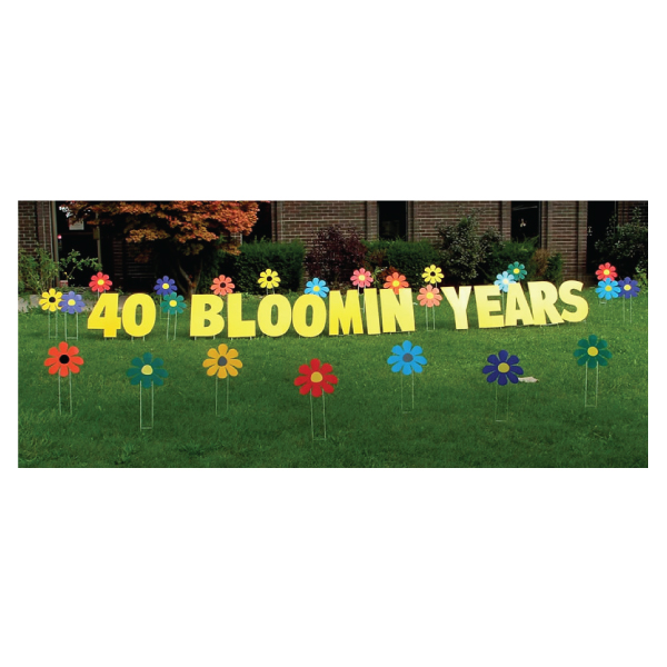 fowlers yard greetings yard cards lawn signs happy birthday party rentals michigan