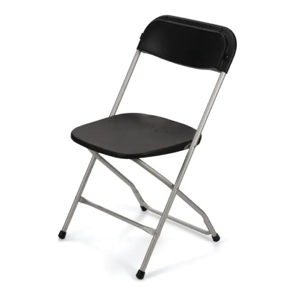 folding chair black party rentals michigan