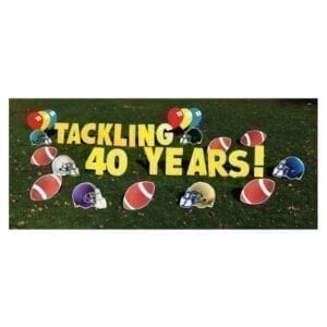 football yard greetings yard cards lawn signs happy birthday party rentals michigan