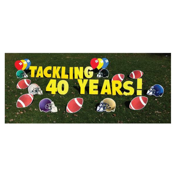 football yard greetings yard cards lawn signs happy birthday party rentals michigan