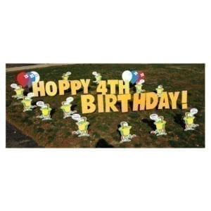 frogs yard greetings yard cards lawn signs happy birthday party rentals michigan