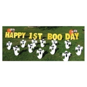 ghost yard greetings yard cards lawn signs happy birthday party rentals michigan