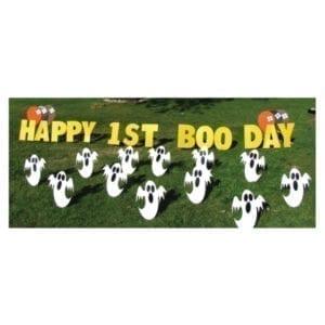 ghost yard greetings yard cards lawn signs happy birthday party rentals michigan