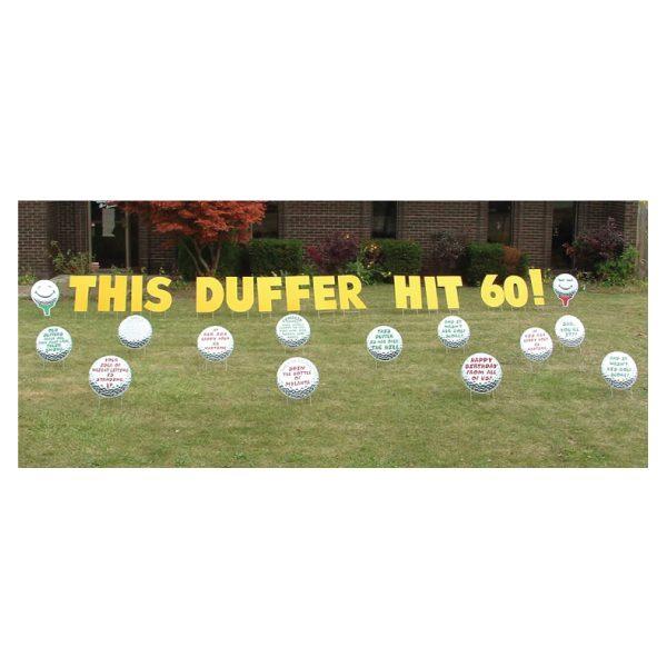 golf yard greetings yard cards lawn signs happy birthday party rentals michigan