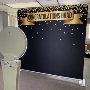 graduation social media booth back drop michigan party rentals