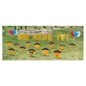 graduation yard greetings yard cards lawn signs happy birthday party rentals michigan