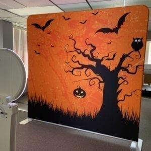halloween social media booth back drop michigan party rentals